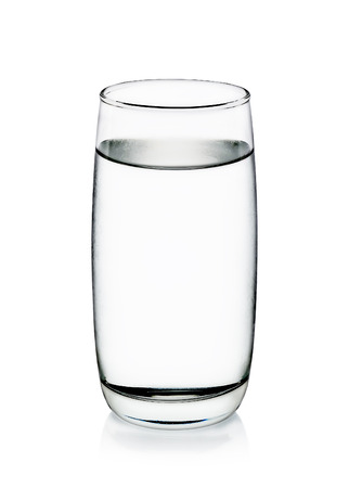 Photo pour Cool water with glass isolated on the white background. - image libre de droit