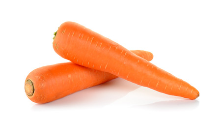 Carrot isolated on the white background .