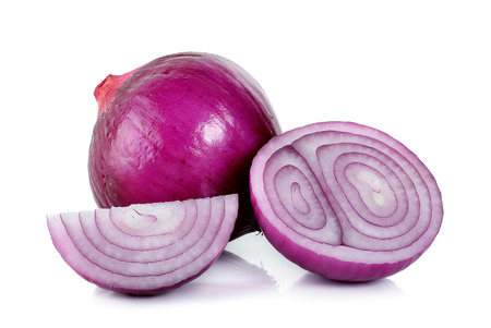 red onion isolated on the white background .