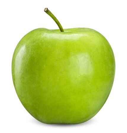 Photo for green apple isolated on white, apple clipping path - Royalty Free Image