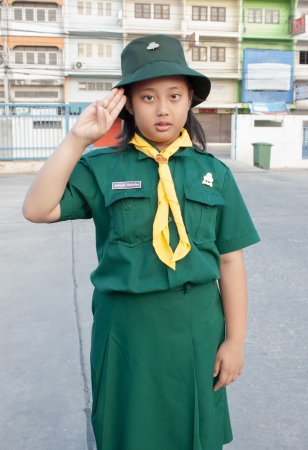 girl scouts green uniform