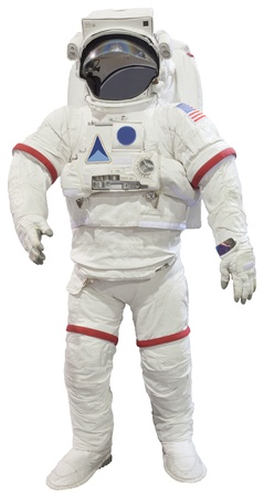 astronaut suit isolated on white background