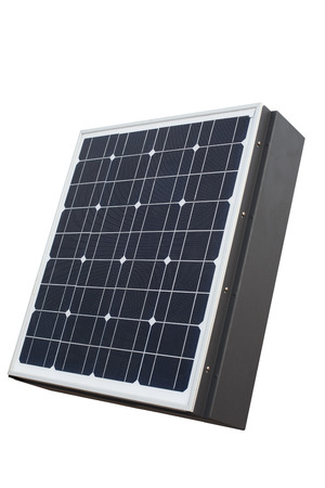 solar cell panel isolated white