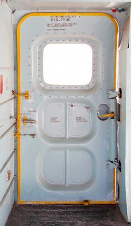 door of military plane inside
