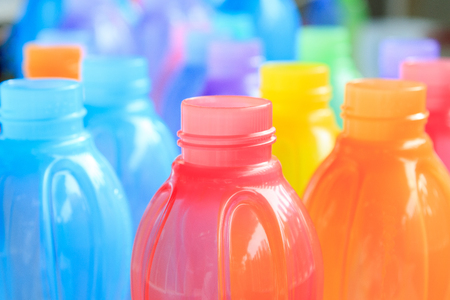colorful of plastic bottle