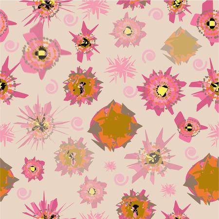 Photo pour Abstract pattern retro art color, vintage style. vector design. - image libre de droit