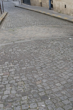 Remains of Roman rampart of Paris on Rue de la Colombe