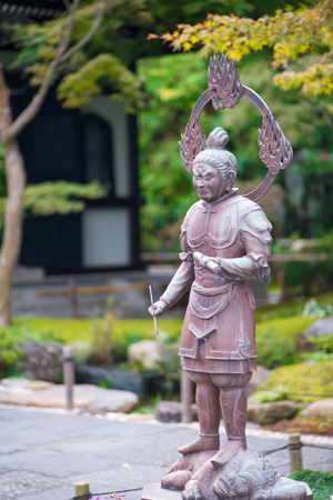 Closed up Buddist statues of Hase-dera temple in Kamakura, Japan.