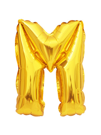 Foto de letter M balloon font isolated on white background - Imagen libre de derechos