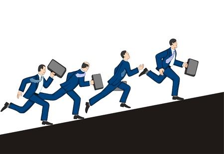 Vektor für Businessmen running up. Vector illustration - Lizenzfreies Bild