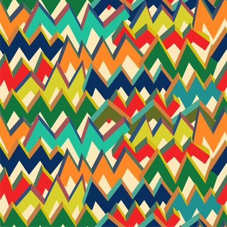 Multicolor zigzag Pattern