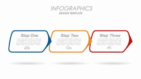 Illustration pour Infographic design template with place for your text. Vector illustration. - image libre de droit