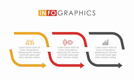 Illustration pour Infographic design template with place for your data. Vector illustration. - image libre de droit
