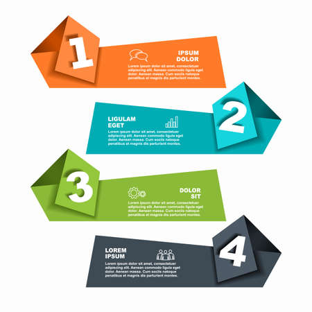 Illustration for Infographic design template with place for your data. Vector illustration. - Royalty Free Image