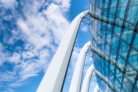 Modern architectural and facade outdoor design.