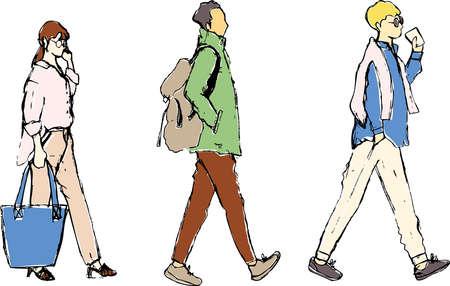 Illustration pour Pencil Pencil Male Female - image libre de droit
