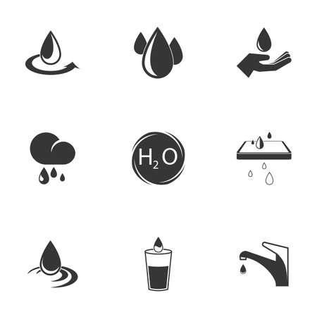 Illustration pour water icon set - image libre de droit