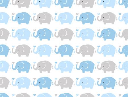 Illustration for seamless elephant cartoon pattern  - Royalty Free Image