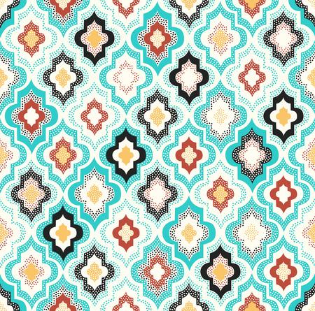 Foto de seamless doodle dots geometric pattern - Imagen libre de derechos