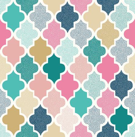 Ilustración de seamless doodle dots geometric pattern - Imagen libre de derechos
