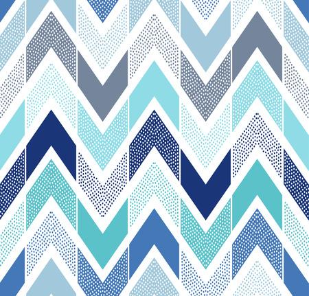 Illustration pour seamless doodle dots zigzag tiles pattern - image libre de droit