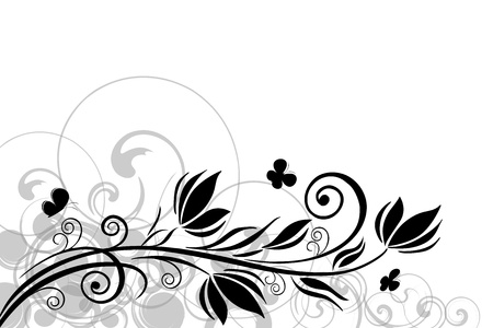 Abstract Floral motif background