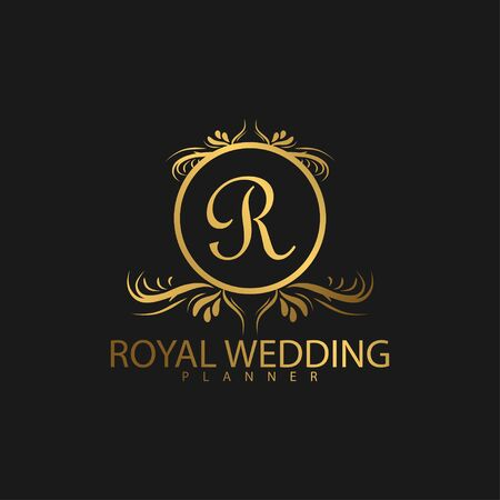 Illustration for Logo Luxury with Golden Color - Royalty Free Image