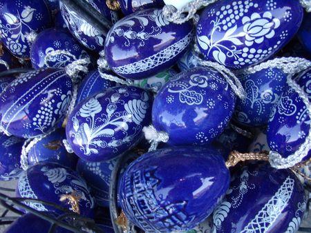 hungarian folk art painted Easter eggs