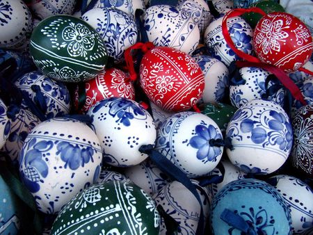 hungarian folk art painted Easter eggs