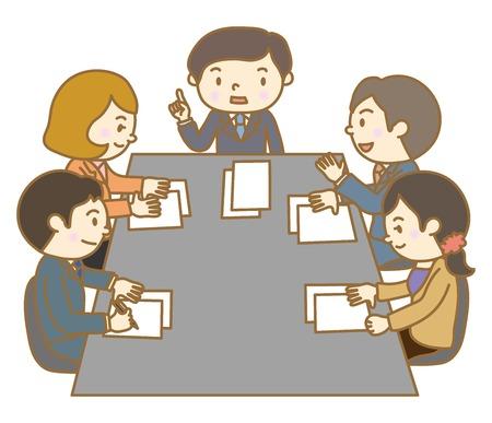 Illustration pour Meeting scenery - image libre de droit