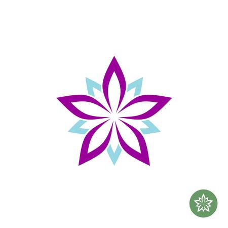 Illustration pour Five leaves lotus flower logo template - image libre de droit