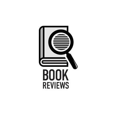 Book reviews service logo template. Search inside the dictionary.