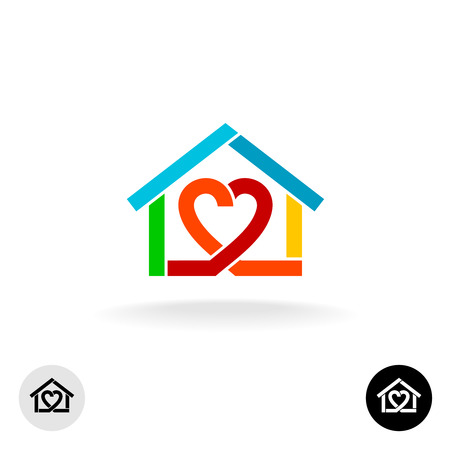 Illustration for Home care cleaning service icon idea - Royalty Free Image