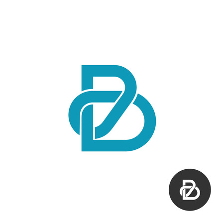 Letter B line puzzle style icon