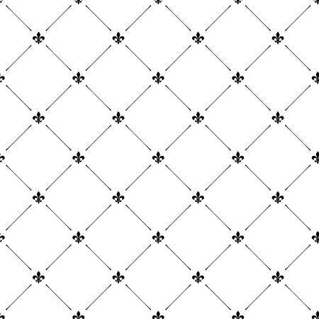 Foto de Fleur de lis luxury seamless pattern background - Imagen libre de derechos