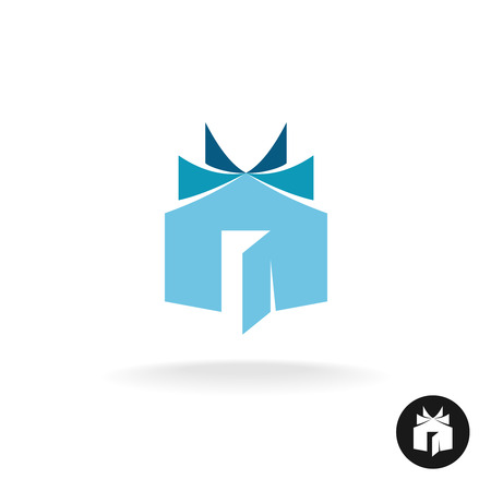 Illustration for Books house idea icon template. House building with open book sheets sign. - Royalty Free Image