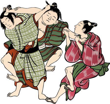 Ilustración de Children fighting - Imagen libre de derechos