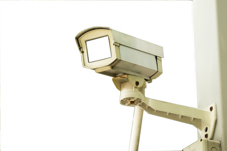 CCTV recording important events and a guard house(White Background)