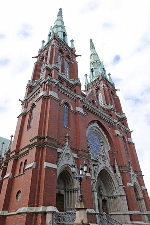 HELSINKI, FINLAND - JUNE 7, 2015: St. John's Church in Helsinki