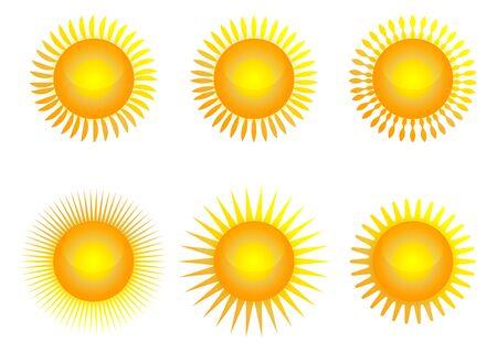 Illustration for Sun icon set, vector illustration - Royalty Free Image