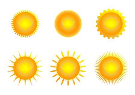 Illustration pour Sun icon set, vector illustration - image libre de droit
