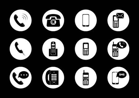 Illustration pour Phone icon vector. Call icon vector. mobile phone smartphone device gadget. Vector illustration - image libre de droit