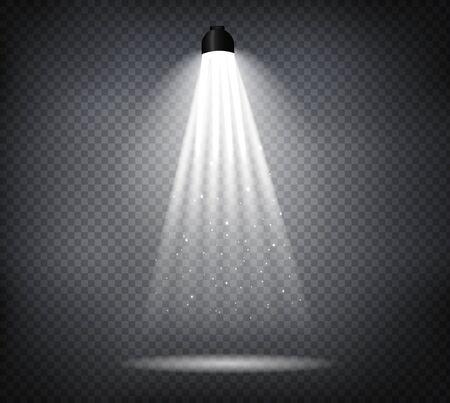 Illustration pour Light effect spotlight with transparent background - image libre de droit