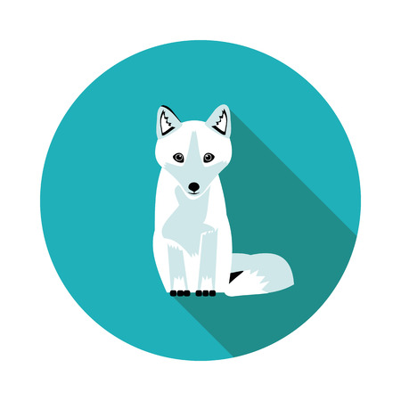 best flat  icons Arctic Fox in vector format