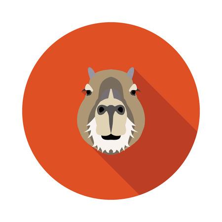 Illustration pour flat icon a capybara in vector format - image libre de droit
