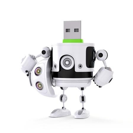 USB droid. Digital storage concept