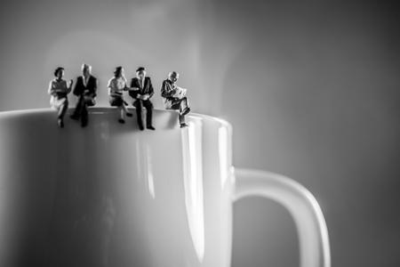 Foto de Business team coffee break. Discussion and talking concept. - Imagen libre de derechos