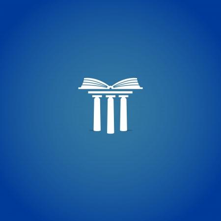 Illustration pour Library or university logo - image libre de droit