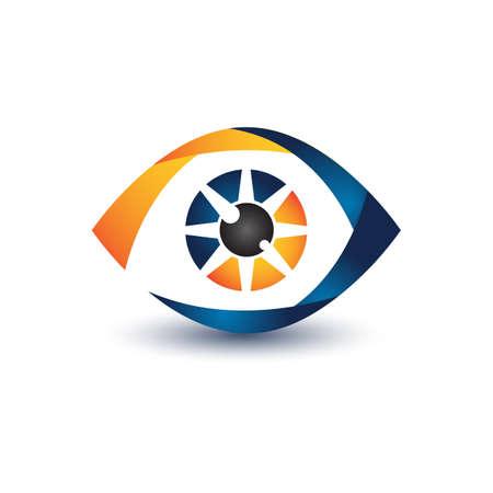 Illustration pour Illustration design eye symbol for your best business symbol. Vector illustration - image libre de droit