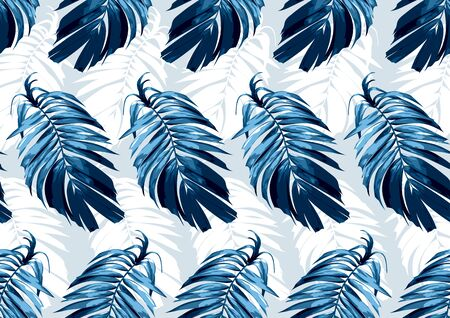 Illustration pour  hand drawn natural leaves, textile fashion, abstract seamless pattern, vector illustration file. - image libre de droit